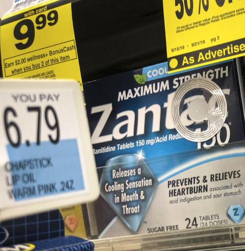 Drug Stores Pulling Zantac And Its Generic Version Due To Cancer Risk